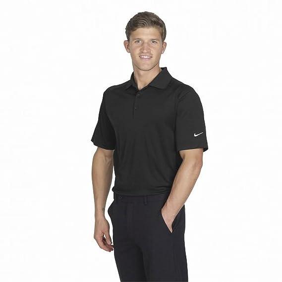 b39671877 Nike Golf Mens Victory Sports Polo Shirt / Golfwear (S) (Black): Amazon.co. uk: Clothing