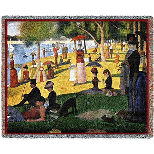 Pure Country Inc. a Sunday Afternoon on the Island of La Grande Jatte Blanket Tapestry Throw