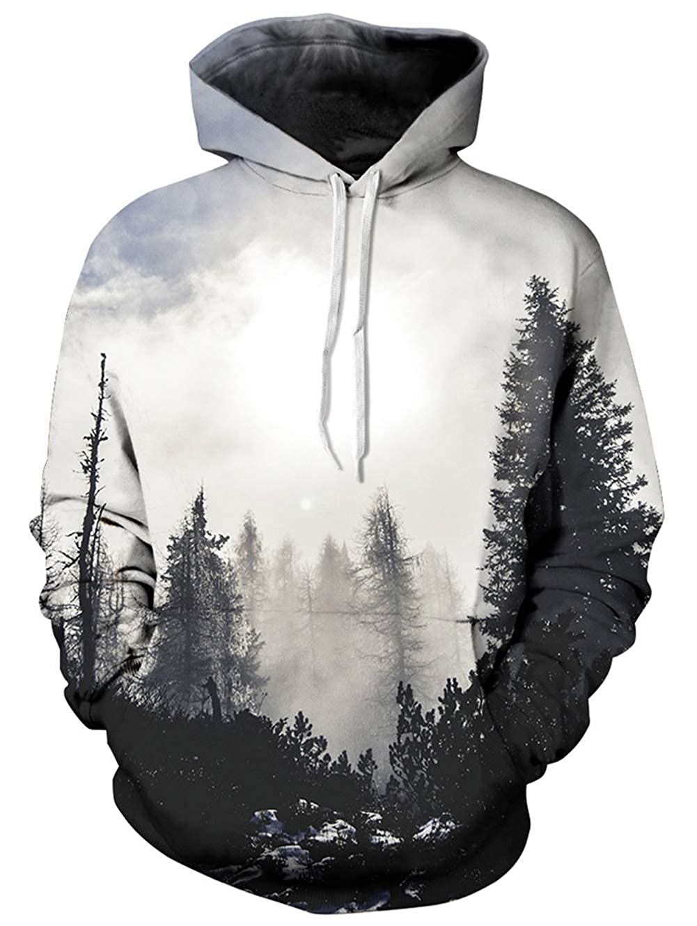Spreadhoodie Unisex 3D Pullover Hoodie for Men Women Long Sleeve Drawstring Hooded Sweatshirts with Big Pockets S-XXXL