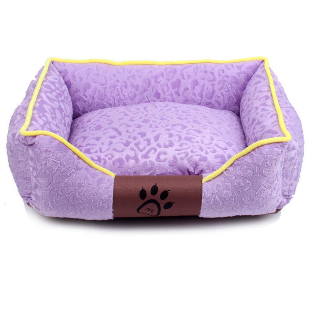 Purple M purple M Wuwenw New Soft And Washable Pet Dog Bed Sofa Cushion Cat Dog House For Small Medium Large Dogs,Purple,M