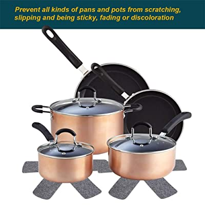 Pot and Pan Protectors Separators Pads Dividers for Non-stick Pans Cookware 6PCS