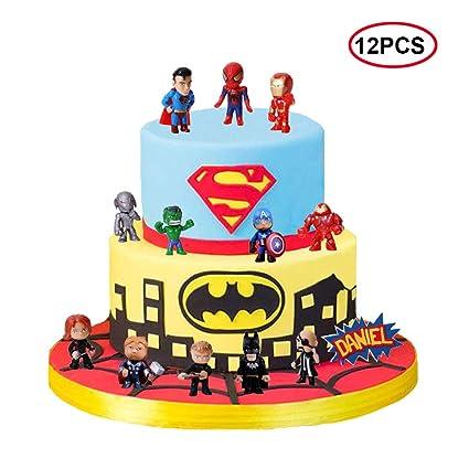 BoBc 12 piezas de decoración para tartas de Vengadores y ...