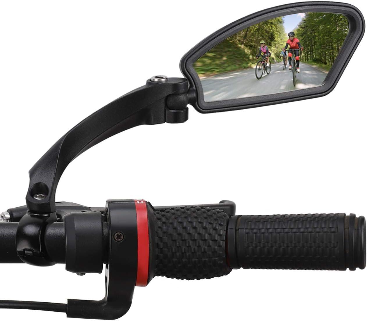 wishing Fahrradspiegel Lenker-Fahrradspiegel Edelstahl HD Schlagfest R/ückspiegel 360/° Drehungs/überpr/üfung Lenkerspiegel f/ür 21-26 mm Rennrad Mountainbike E-Bike