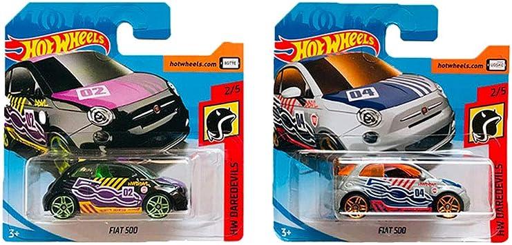 Hot Wheels Fiat 500 HW Daredevils Pack 2: Amazon.es: Juguetes y juegos