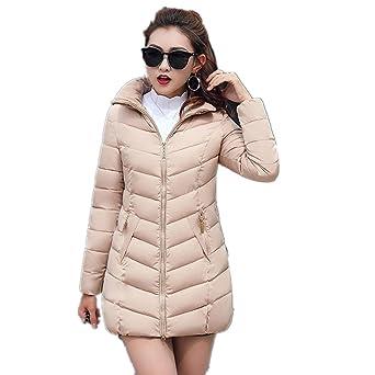 Mantel Damen Kolylong® Frauen Winter Warm Lange Steppjacke mit Kapuze Parka  mit Fellkapuze Locker Wintermantel Verdickte Daunenmantel Kapuzenjacke  Outwear ... f4ab7ac33a