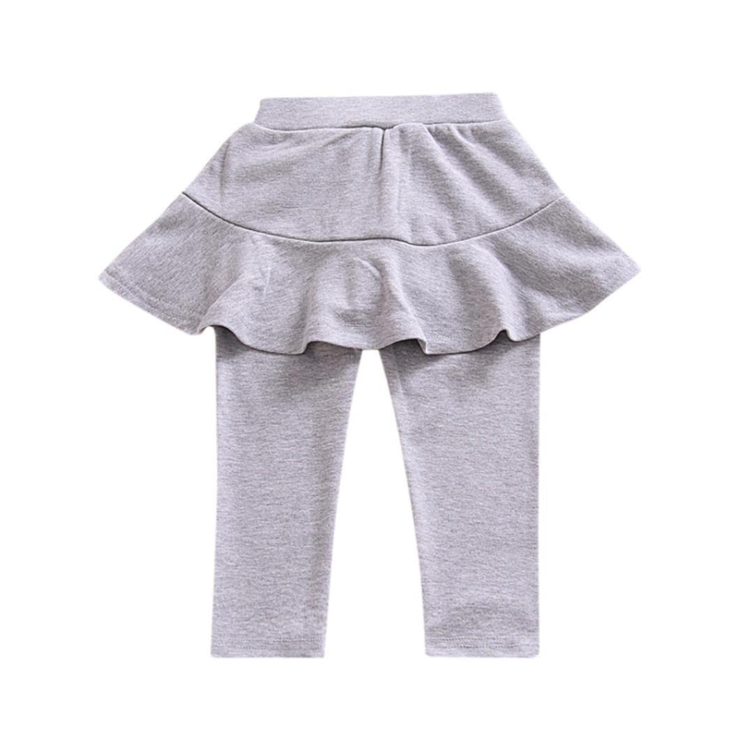 Baby Girls Legging ,Clode® For 0-5 Years old Trendy Leg Warmer Baby Girl Baby Girls Pants Child Skirt-Pants Solid Trousers Legging Clode-T76