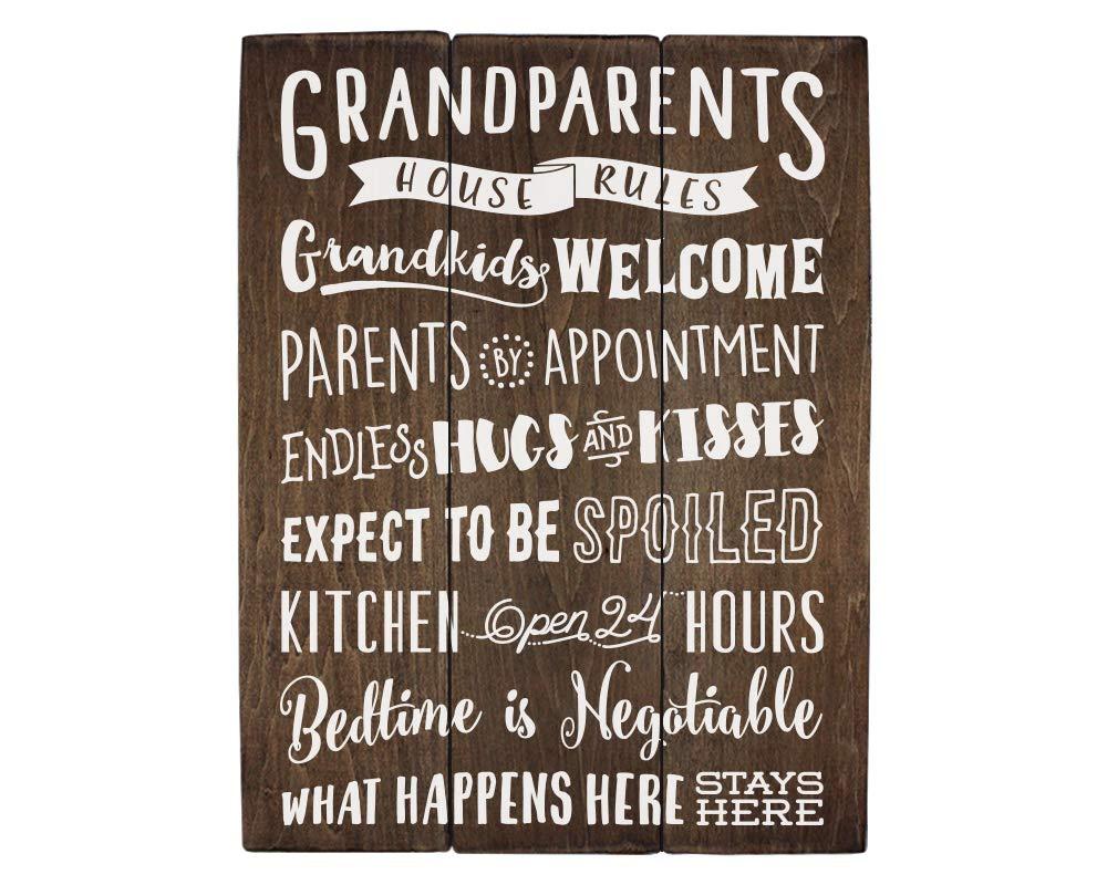 Regalos para la abuela abuelos Reglas de la casa cartel de ...