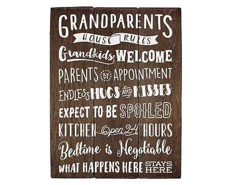 Amazon.com: Regalos para abuela abuelos Reglas de la casa ...