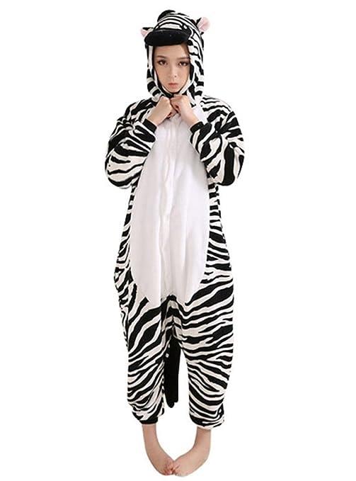 Emmarcon - Disfraz de carnaval halloween pijama cálido de animales kigurumi cosplay zoológico onesies S/