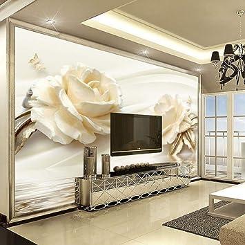 Benutzerdefinierte Tapete 3D Blume Champagner Rosa Moderne ...
