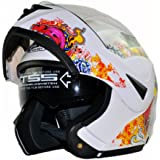 [Upgrades] ILM 10 Colors Motorcycle Flip up Modular Helmet DOT (XL, Skull