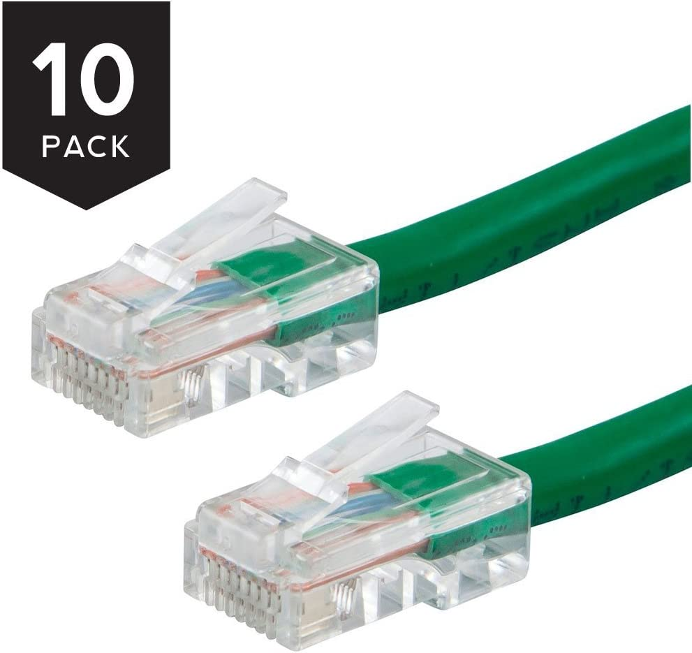 10-Pack Buhbo 20 ft Cat5E UTP Ethernet Network Non Booted Cable Red