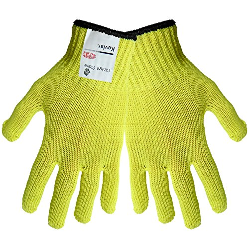 Global Glove K300 100 Percent Kevlar Standard Weight String Knits Glove, Cut Resistant, Mens (Case of 120) 100% Kevlar String