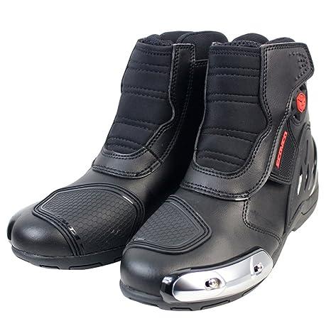 2019 mejor venta venta de bajo precio que buen look Botas de Montar de Moto de Verano de Cuero de la PU Motocross Off-Road  Racing Botines Zapatos de Protección