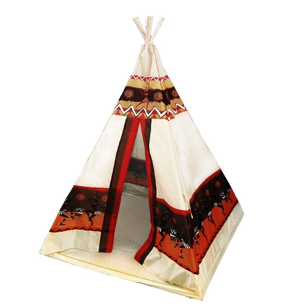 [iCorer]iCorer Portable Indoor Outdoor Play Tents Indian Teepee Tent Playhouse for Kids 201 [並行輸入品]   B01CZI5F5O, 氷見ジェラート cd64abfa