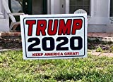 2 - Trump 2020.Keep America Great ! .Campaign. Yard Signs with Stakes