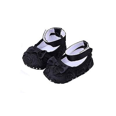 Bebe Chaussures - TOOGOO(R) Bebe fille Confortable Antiderapantes Chaussures de princesse pour le tout-petit (6-12 mois, noir)