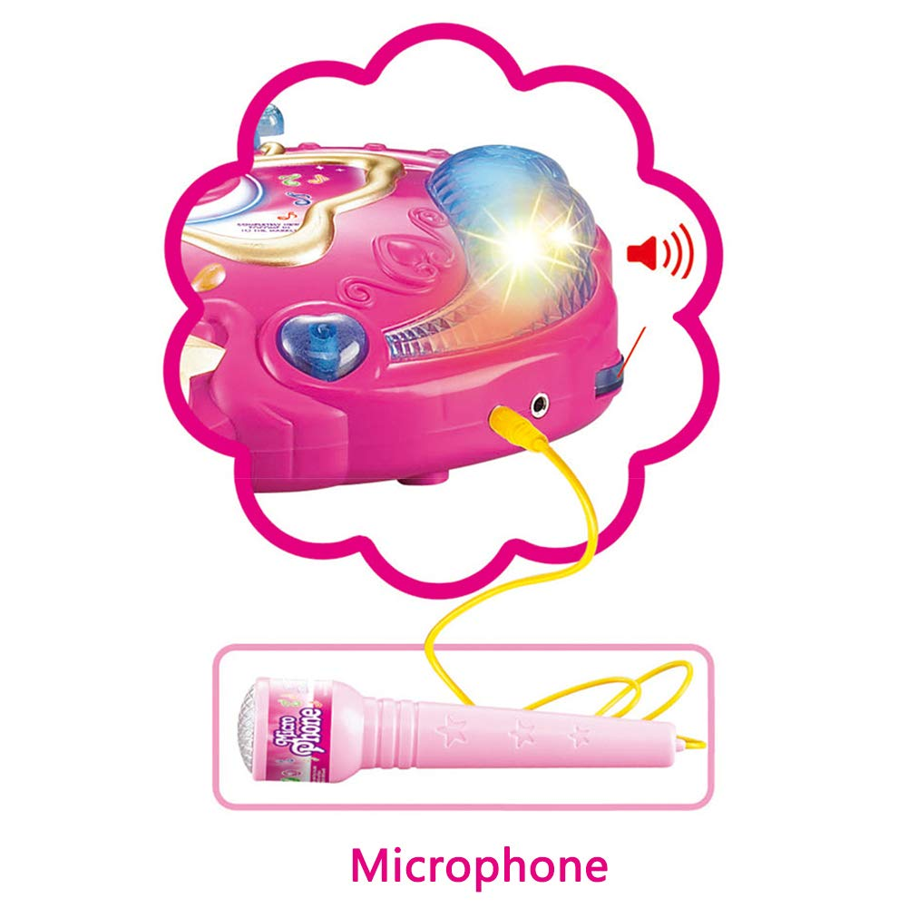 Kids Karaoke Portable Singing Music Player Karaoke Machine with Microphone Early Education Single Microphone Connectable Phone by Mababys (Image #3)
