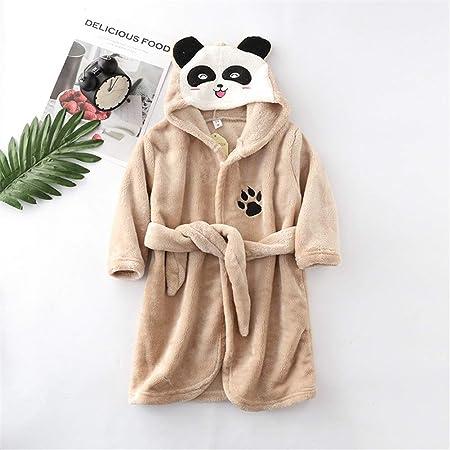 Color : B Yellow, Size : 90CM Shopping cart Girls Boys Bathrobe Kids Animal Soft Short Hooded Fleece Panda Cosplay Bathrobe Dressing Gown Night Lounge Wear Age 5 6 7 8 9 10 11 12 13 14 Years