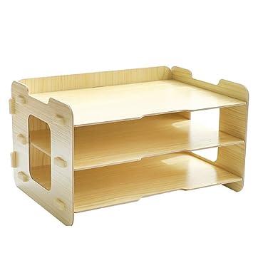 Ablagefacher Buro Holz Teckpeak Tisch Organizer Buro Schreibtisch