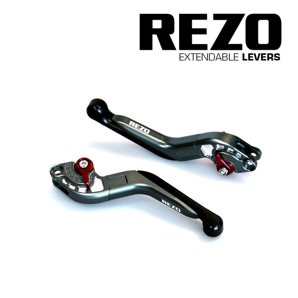 Rezo REZ-SETV2-2-TIT-0021 V2 - Palancas extensibles ajustables CNC para motocicleta Honda CB 1000 R 2008-2016, titanio China