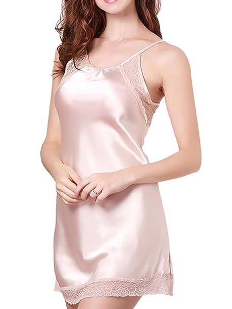 Aivtalk Mujer Pijama Camisón Vestido de Escote V Seducción Chemise Picardías Ropa de Dormir Ropa de