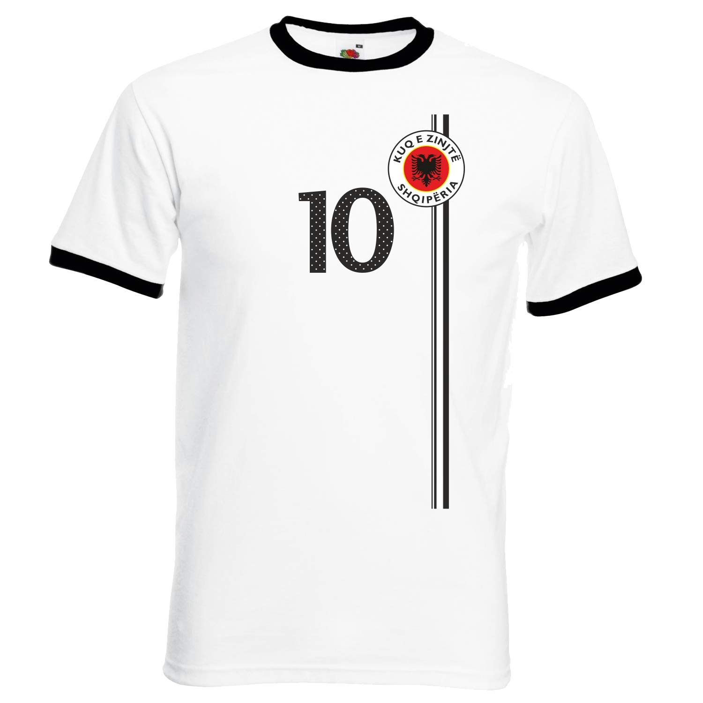 Kosovo WM 2018 Kinder T-Shirt Blau Trikot Fußball Nr ALL 10 Sport