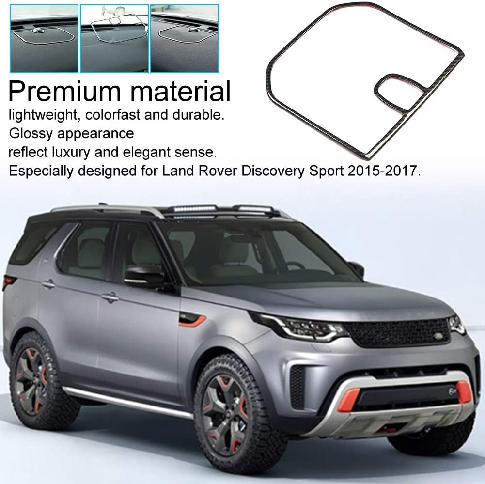 Carbon Fiber Style Car Left Dashboard Cover Frame Trim for Land Rover Discovery Sport 15-17 Suuonee Dashboard Trim