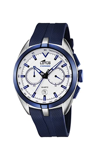 Lotus 18189/1 - Reloj de Pulsera Hombre, Caucho, Color Azul: Amazon.es: Relojes