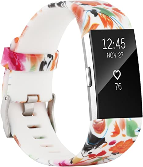 Image of Fit-power para Fitbit Charge 2 Bandas, Suave y Ajustable Repuesto de Pulsera Deportiva para Fitbit Charge 2 pequeño/Grande