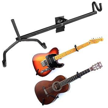 Guitarra eléctrica pantalla accesorio de bajo eléctrico accesorio de pared colgador guitarra acústica Cruz soporte Musical para Guitarra partes: Amazon.es: ...