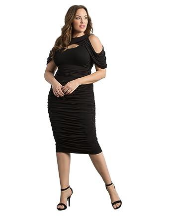 Kiyonna Womens Plus Size Bianca Ruched Dress At Amazon Womens