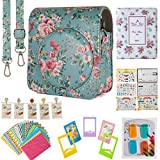 Flylther Mini 70 Instant Film Camera Accessories 7 in 1 Bundles Set for Fujifilm Instax Mini 70 Instant Film Camera (Case/Albums/Frames/Film Stickers/Filters)- Blue Flower