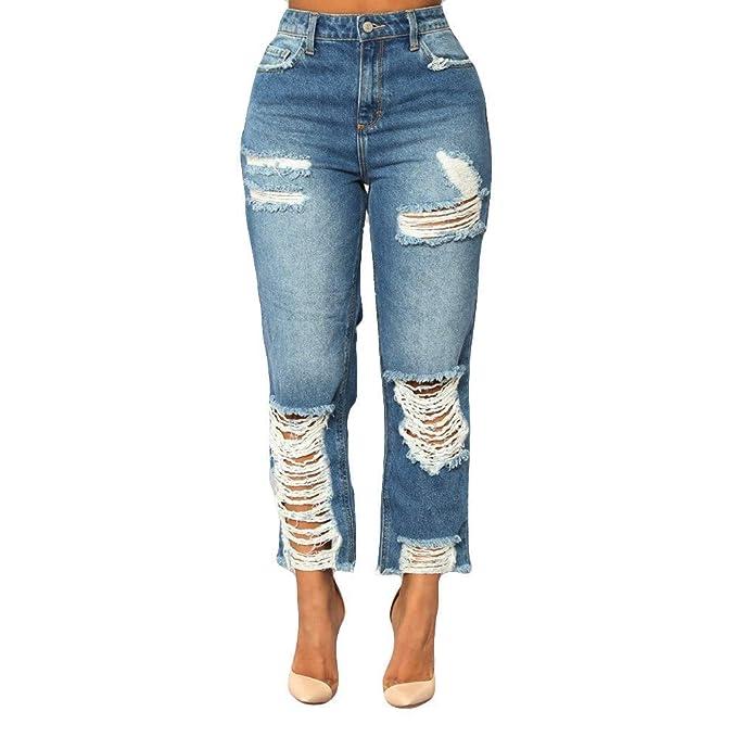 Amazon.com: GWshop - Pantalones vaqueros para mujer, de ...