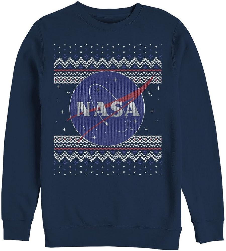 Fifth Sun Men's NASA Ugly Christmas Logo Print Sweatshirt at