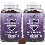 New Age Immune System Support Gummies 2-Pack - Sambucus Black Elderberry Extract - All Natural Immunity Gummies - 120…