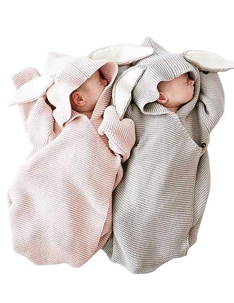 Amazon.com: COLOOM - Manta para bebé recién nacido, manta de ...
