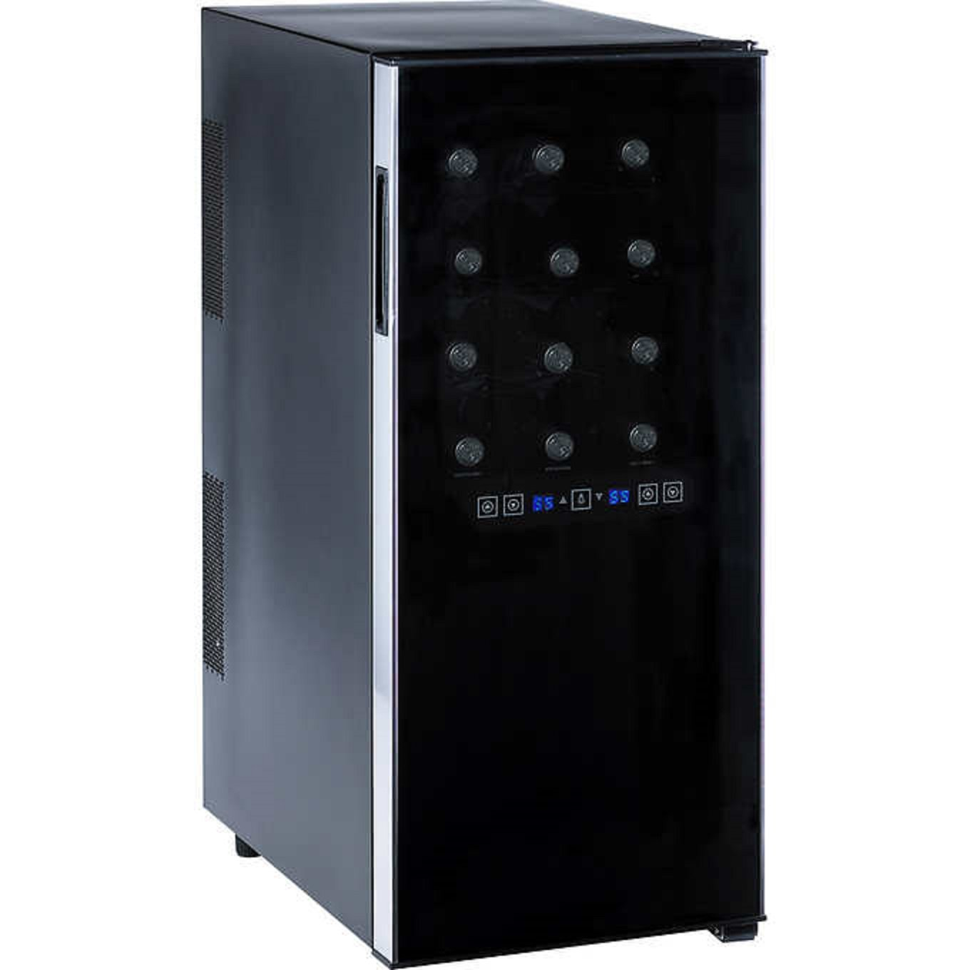 Wine Enthusiast 24-Bottle Dual-Zone Wine Cooler w/Touchscreen Controls Display