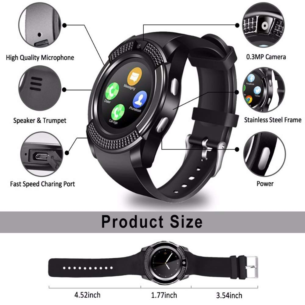 ADTECK BLACKVIEW Arrow Watch Connected, Smartwatch SIM/TF ...