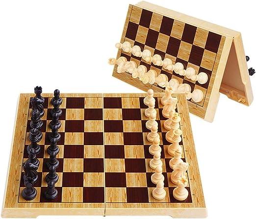 Bzsm El ajedrez de Madera Set de ajedrez Plegable magnético magnético Conjunto de plástico del Tablero de ajedrez magnético de Piezas Entretenimiento Juegos de Mesa: Amazon.es: Hogar