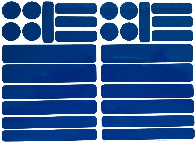 UvV-Reflex Kinderwagen Reflektoren 28 reflektierende Warnaufkleber Sicher Sichtbar Blau