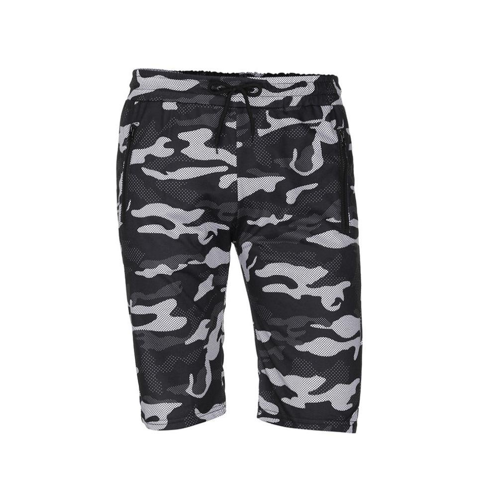 vermers Mens Summer Casual Cargo Shorts 2018 Camouflage Short Pants(XL, Black) by vermers (Image #5)