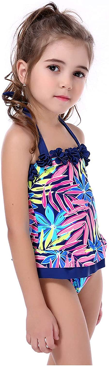 Myhome99 One Piece Swimsuit Dress Children Swimwear Kid Girls Flower Leaves Summer Swimsuit Sport Bathing Suit
