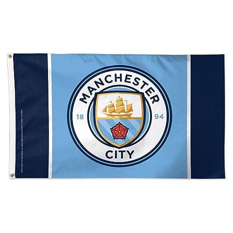 106f5ae7415 Amazon.com   Wincraft Manchester City Football Club Logo Flag   Garden    Outdoor