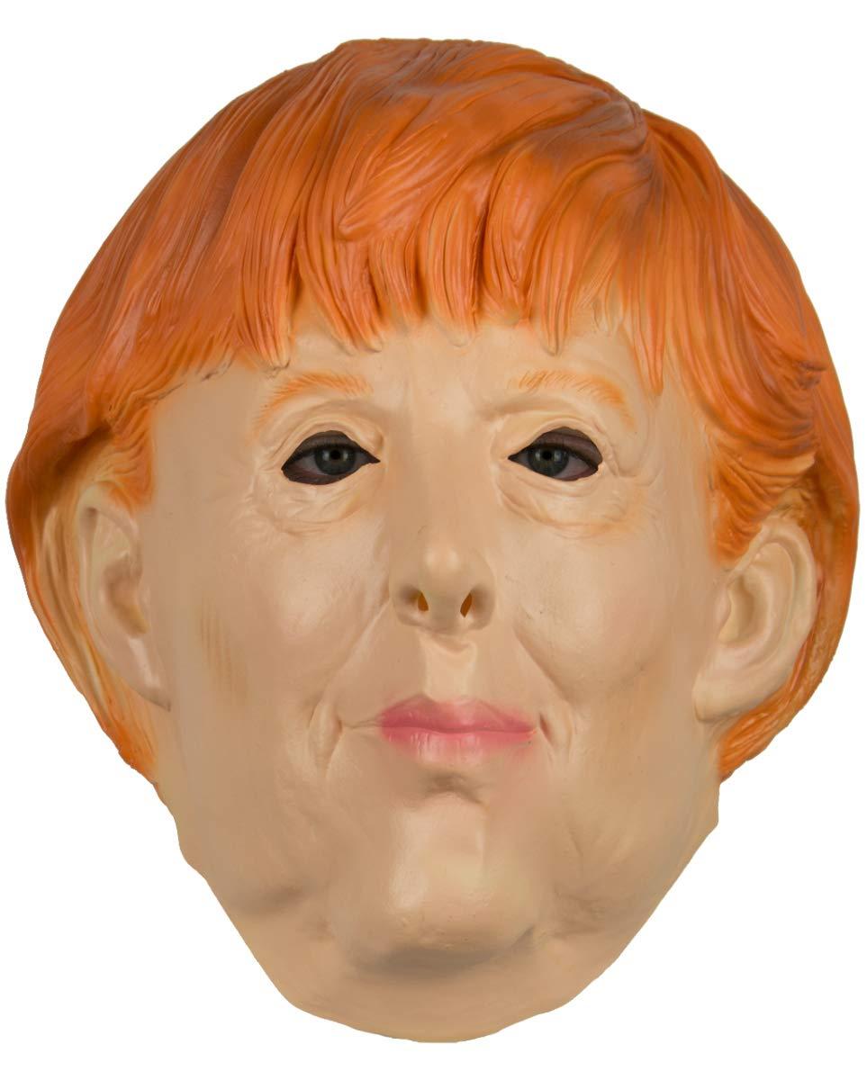Horror-Shop Politikerin Angela Merkel Latexmaske für Karneval & Halloween