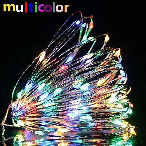 1M / 2M / 5M / 10M / 20M Kupfer Silber Draht LED String Lichterketten Weihnachtsbeleuchtung Für Weihnachtsbaum Girlande Hochzeitsfeier Dekoration-8_Modes-AA_Battery_Multicolor_20Meter_200LEDs