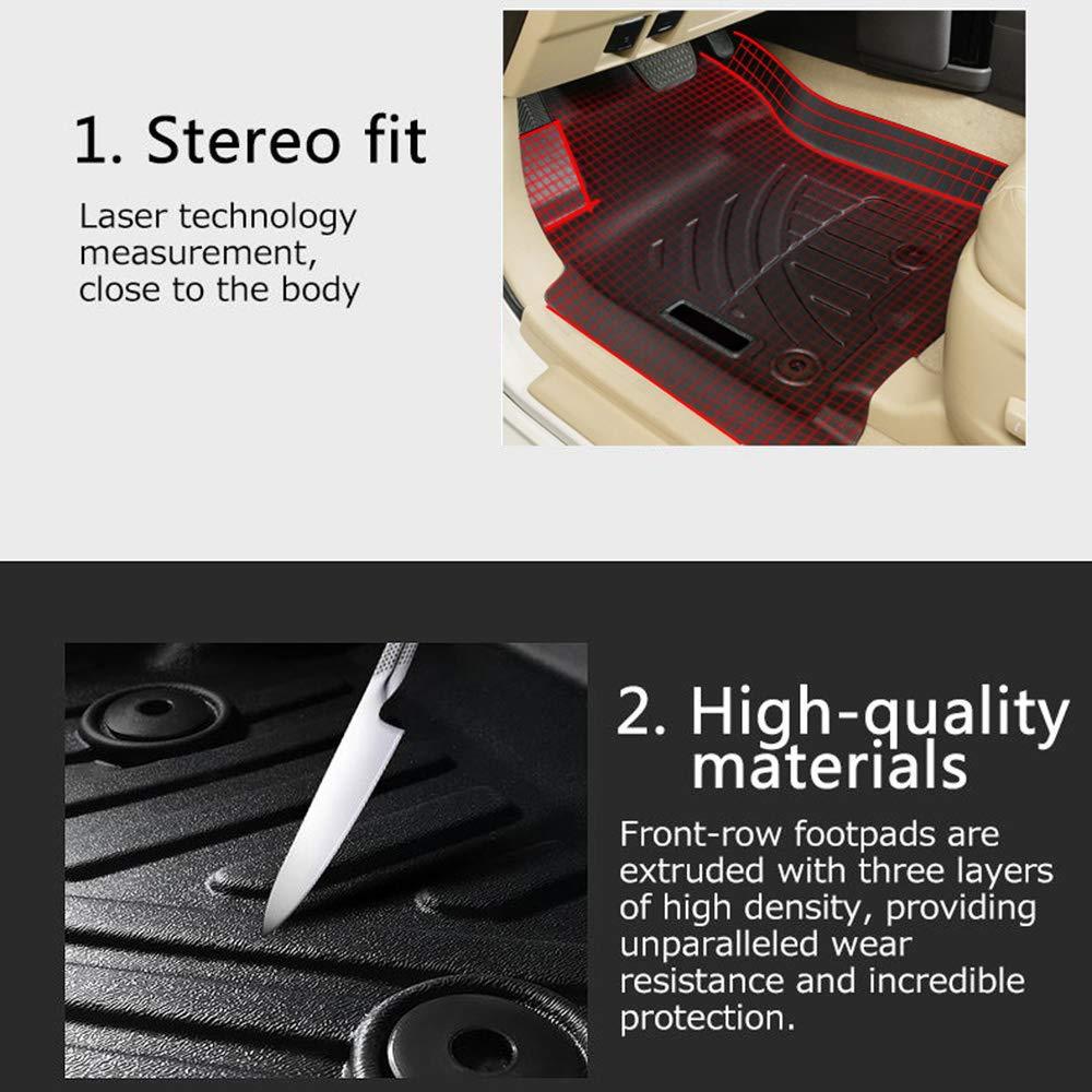 Mixsuper 3D Floor Mats Set Heavy Duty All Weather TPE Material Floor Liner for Toyota Prado 2010-2019