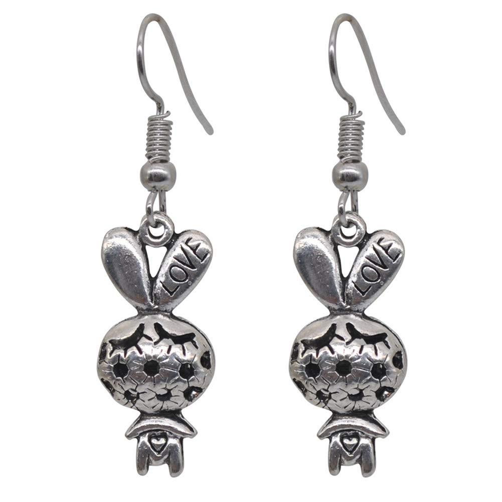 MYANAIL Stereoscopic Hollow Animal Pendant Earrings Elephant Bunny Owl Drop Earrings