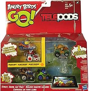 Amazon.com: Angry Birds Go Telepods Street, Snow, Go! Pack ...  Amazon.com: Ang...