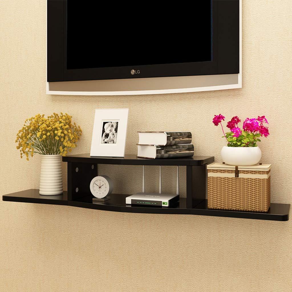 壁掛けテレビ棚壁棚フローティング棚セットトップボックスルーター収納棚テレビの背景壁の装飾棚テレビコンソール (色 : B) B07PFW5V3P B